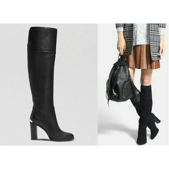 19230ba89707 Michael Kors Regina Over-the-Knee Leather Boots. M 5c76310e12cd4ab84e51b72f